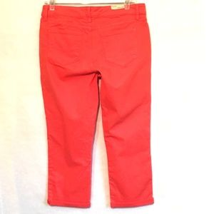 Kut from the Kloth Jeans - Vintage America NEW Boho Cropped Jeans Coral 10